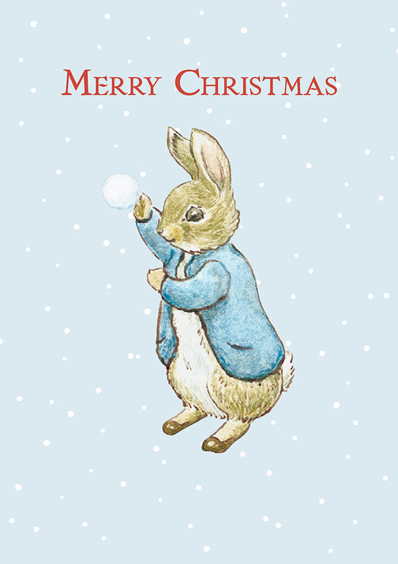 Merry Christmas Peter Rabbit Beatrix Potter Christmas Card