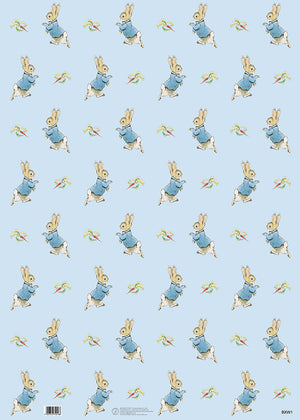 Peter Rabbit Blue Beatrix Potter Gift Wrap Wrapping Paper