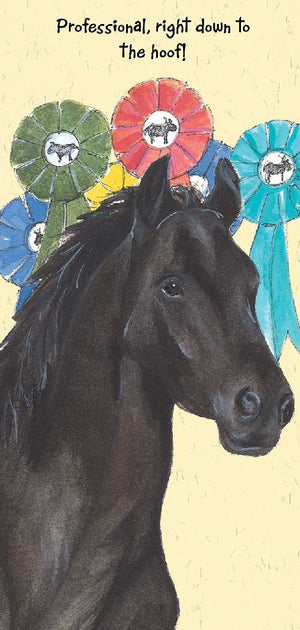 Horse (Professional, right down to the hoof!) Greeting / Birthday Card