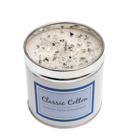 Classic Cotton Scented Candle Tin