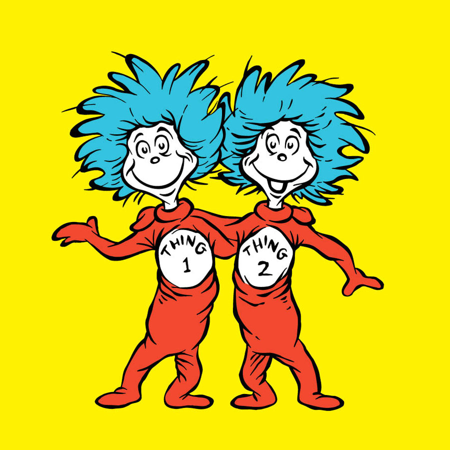 Thing 1 And Thing 2 Dr Seuss Birthday Greeting Card