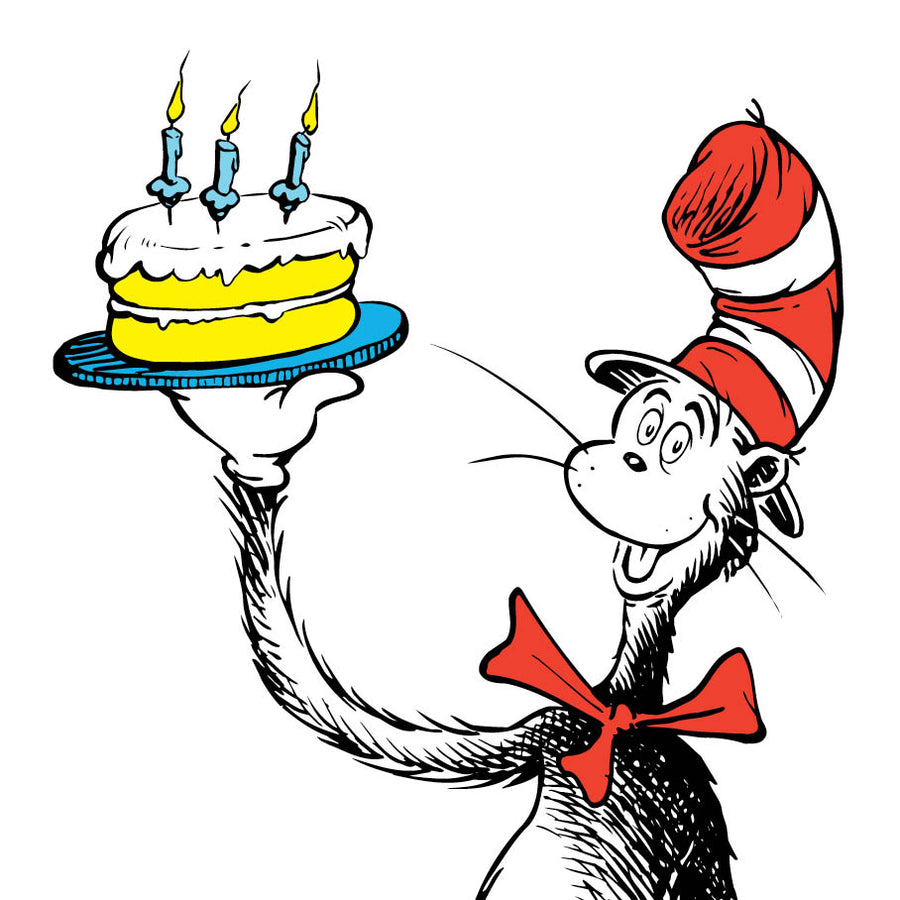 Birthday Cake Cat In A Hat Dr Seuss Birthday Card