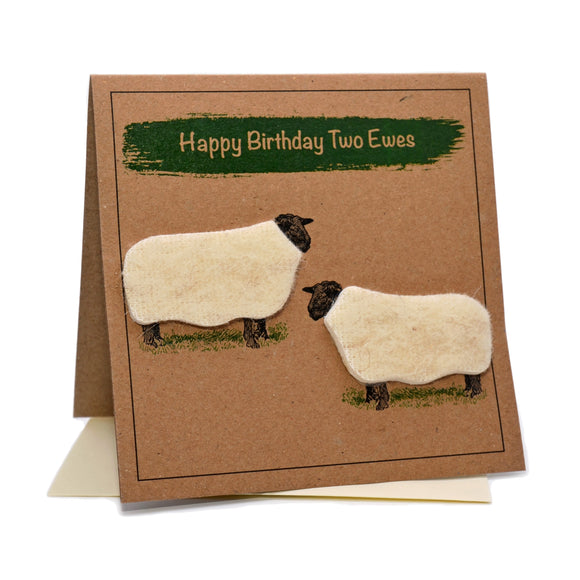 Sheep (Happy Birthday Two Ewes) Greeting Card