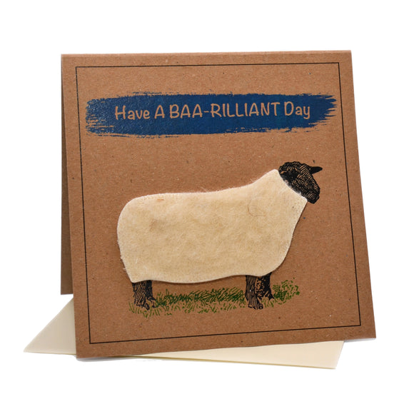Sheep (Have A Baa-rilliant Day) Birthday Card