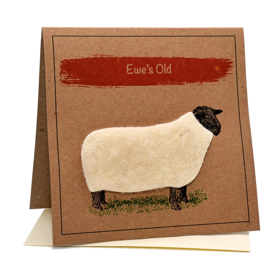 Sheep (Ewe's Old) Birthday Card