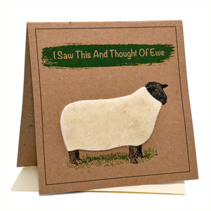 Sheep (I Saw This And Thought Of Ewe) Greeting Card