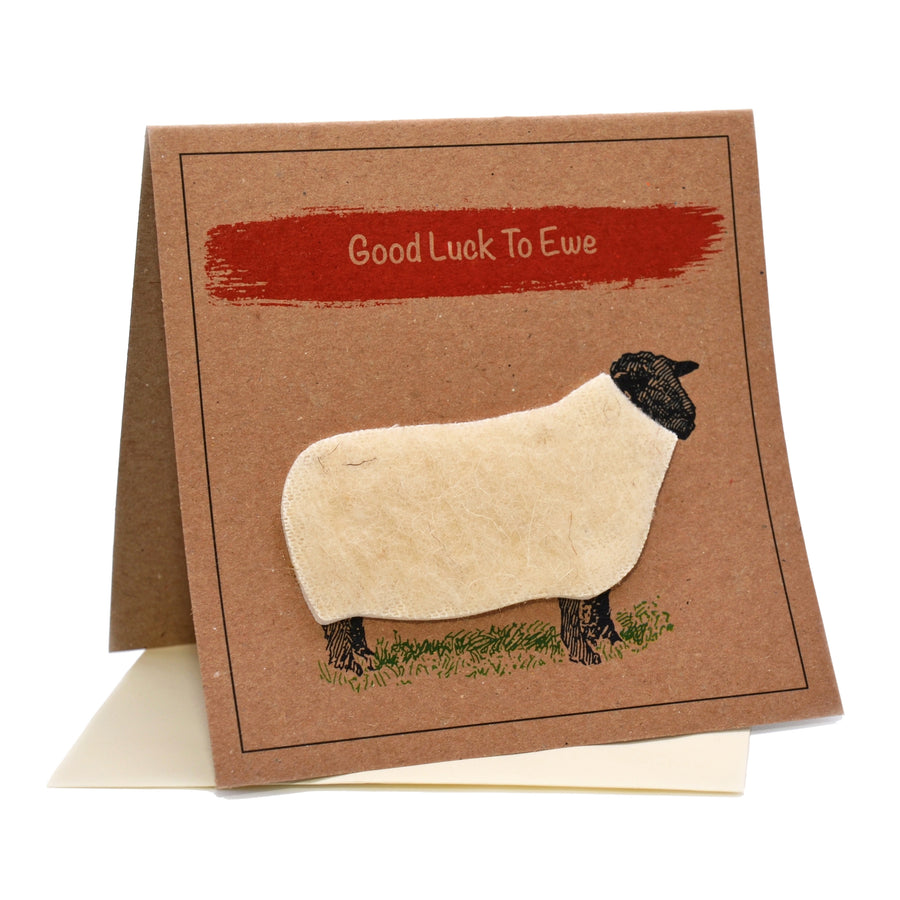 Sheep (Good Luck To Ewe) Card