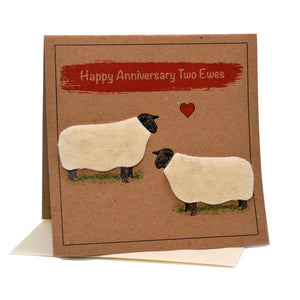 Sheep (Happy Anniversary Two Ewes) Card