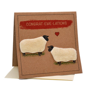 Sheep (Congrat-ewe-lations) Congratulations Card