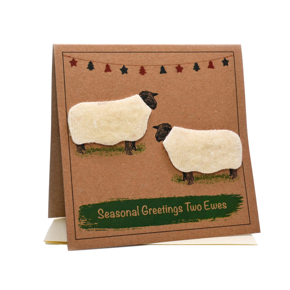 Sheep (Seasonal Greetings Two Ewes) Christmas Card