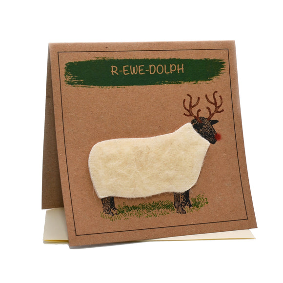 Sheep (R-ewe-dolph) Christmas Card