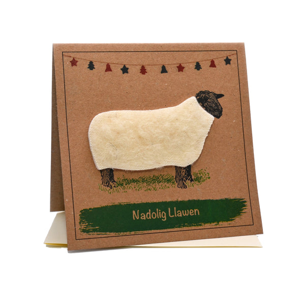 Sheep (Nadolig Llawen) Welsh Christmas Card