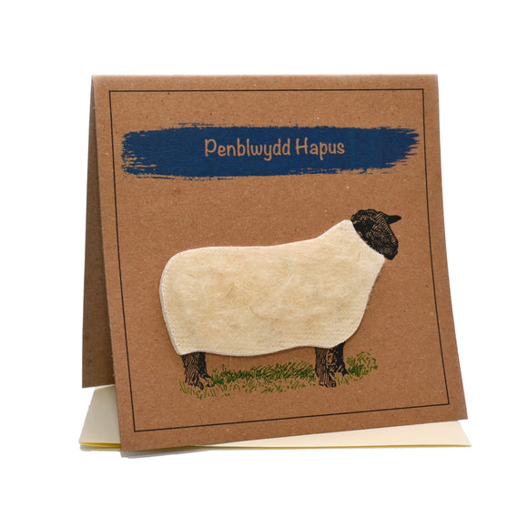 Sheep (Penblwydd Hapus) Welsh Happy Birthday Card
