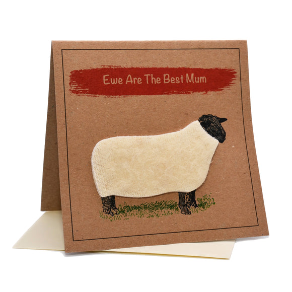 Sheep (Ewe Are The Best Mum) Birthday \ Mother's Day Card
