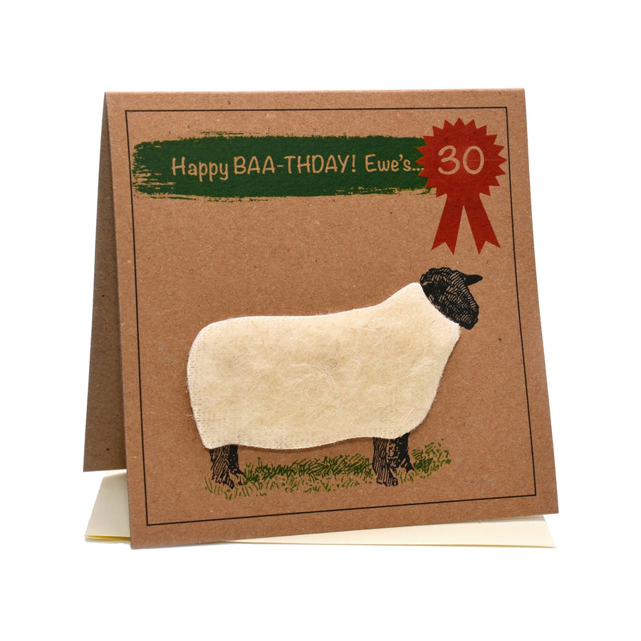 Sheep (Happy Baa-thday Ewe's 30) 30th Birthday Card