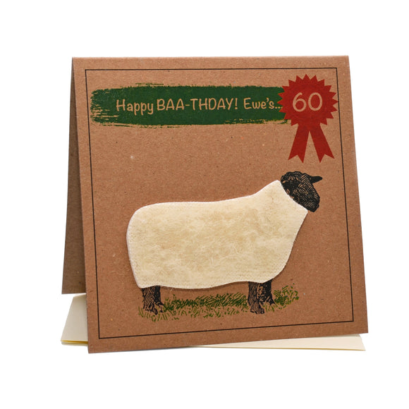 Sheep (Happy Baa-thday Ewe's 60) 60th Birthday Card