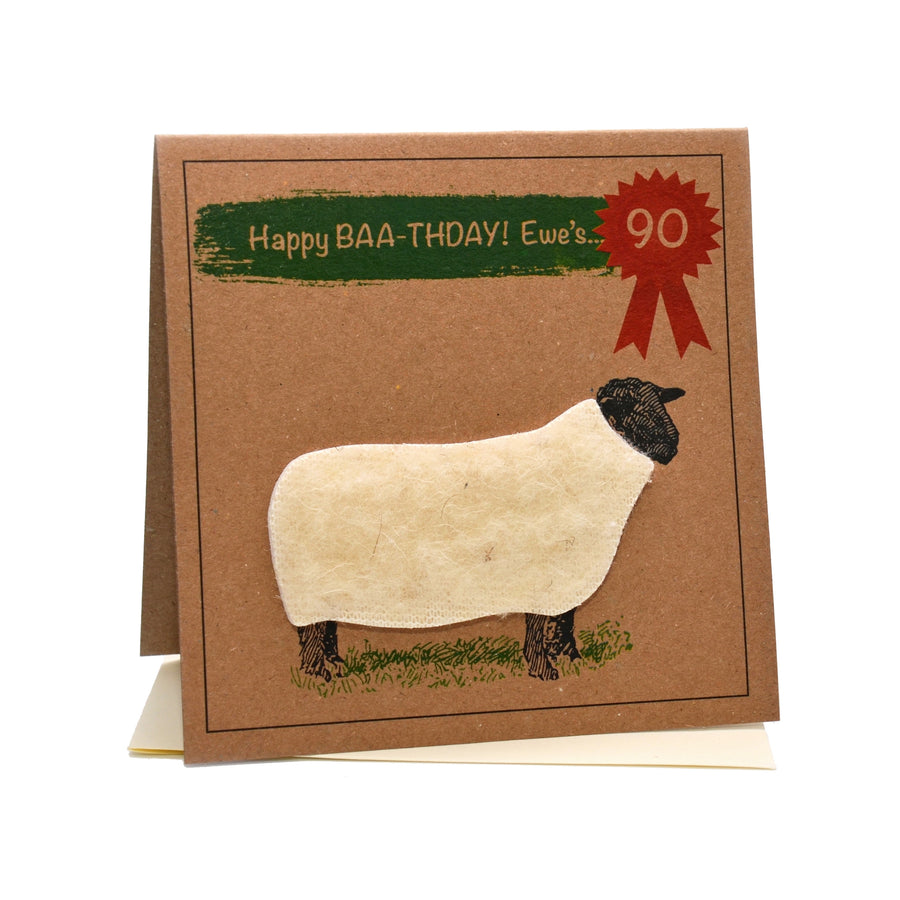 Sheep (Happy Baa-thday Ewe's 90) 90th Birthday Card