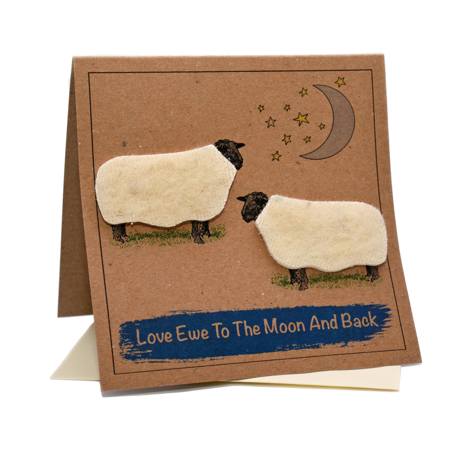 Sheep (Love Ewe To The Moon And Back) Card