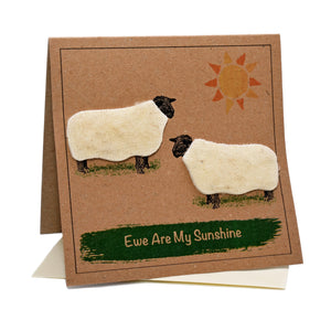 Sheep (Ewe Are My Sunshine) Greeting / Birthday Card