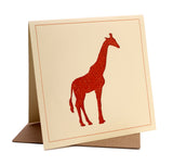 Giraffe Fabric Greeting / Birthday Card