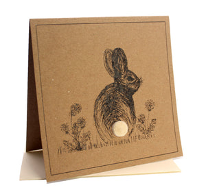 Bunny Greeting Birthday / Blank Card
