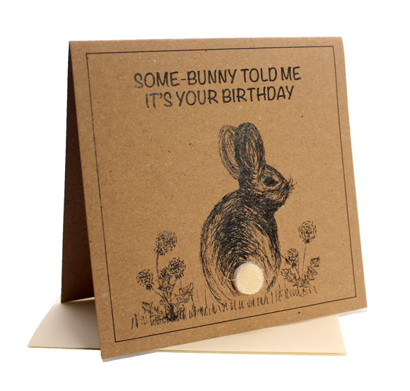 Bunny (Some-bunny Told Me It's Your Birthday) Birthday Card