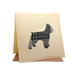 Scotty Dog Tweed Fabric Greeting / Birthday Card