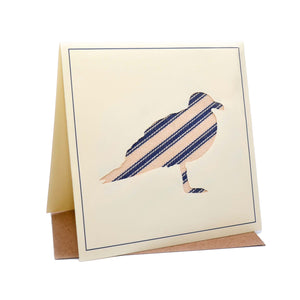 Seagull Seaside Fabric Greeting / Birthday Card