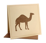 Camel Fabric Greeting / Birthday Card