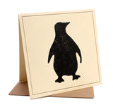 Penguin Fabric Greeting / Birthday Card