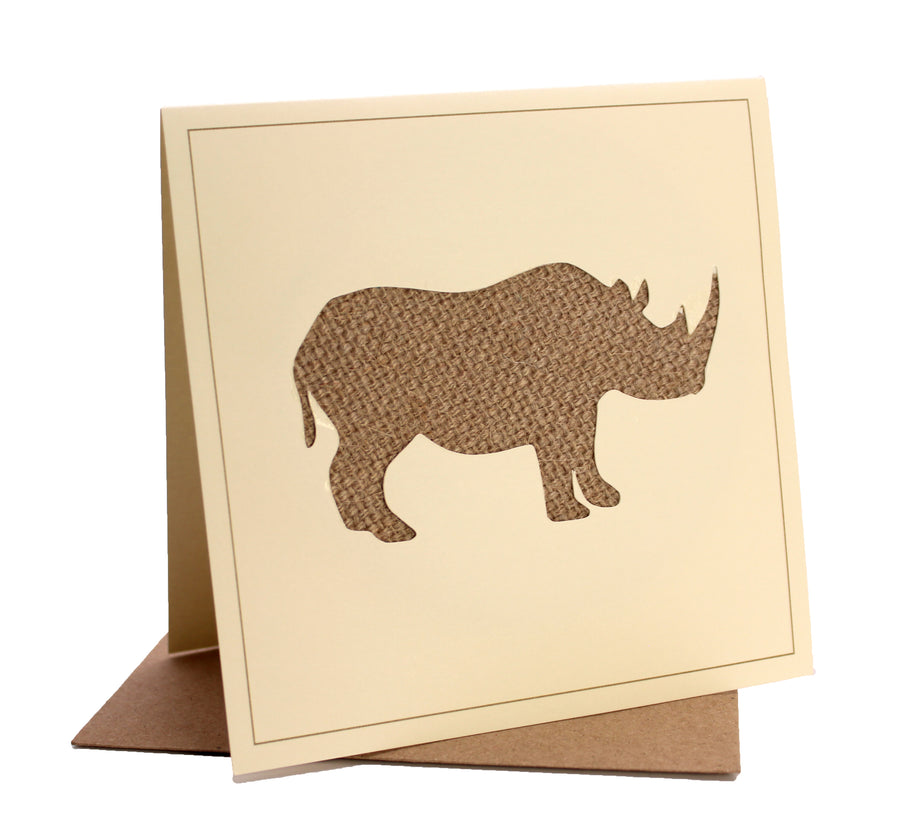 Rhino Fabric Greeting / Birthday Card