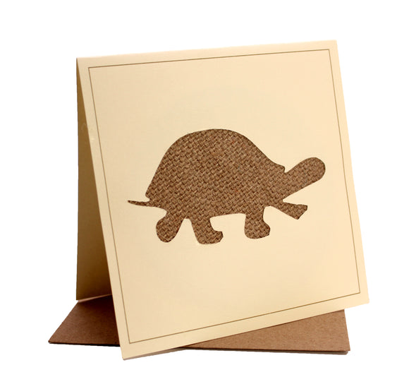 Tortoise Fabric Greeting / Birthday Card