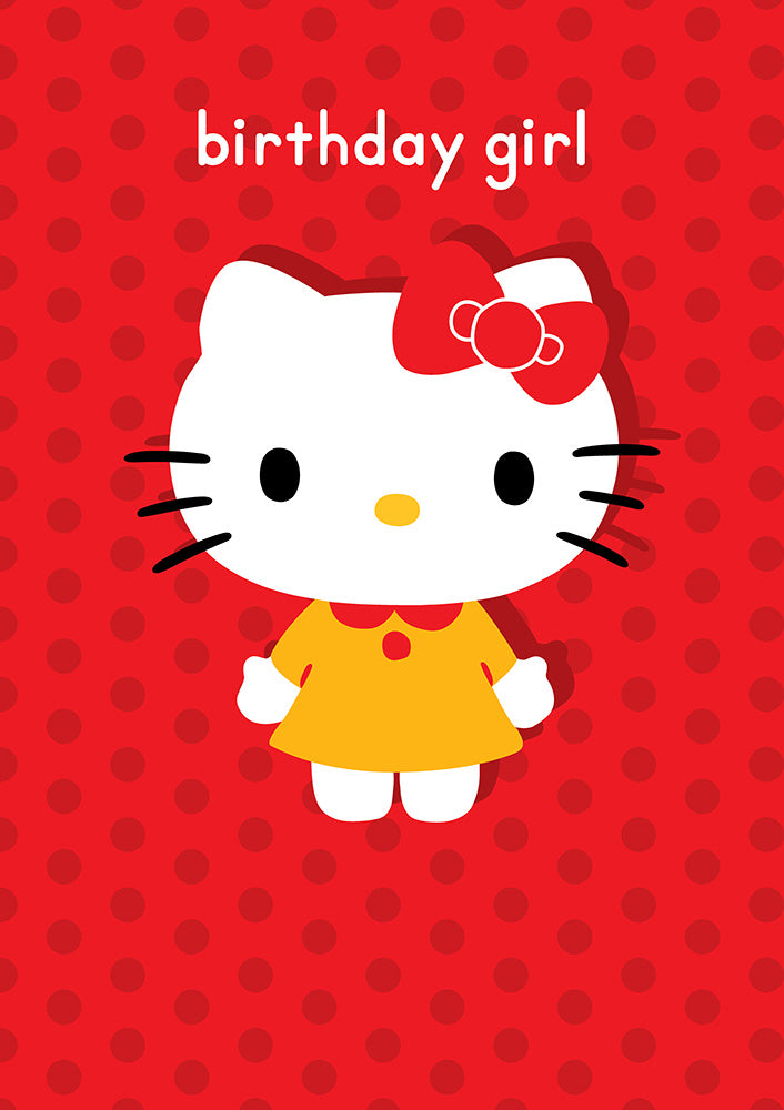 Birthday Girl Hello Kitty Birthday Card