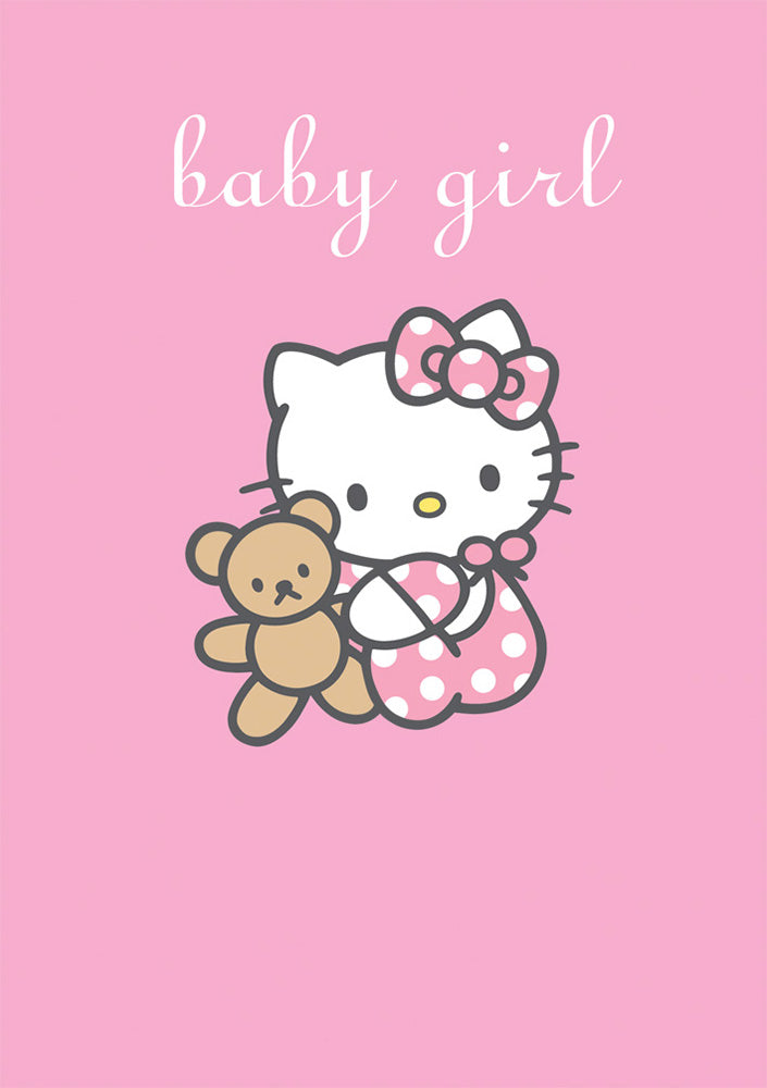 Baby Girl Hello Kitty New Baby Card