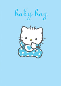 Baby Boy Hello Kitty New Baby Card