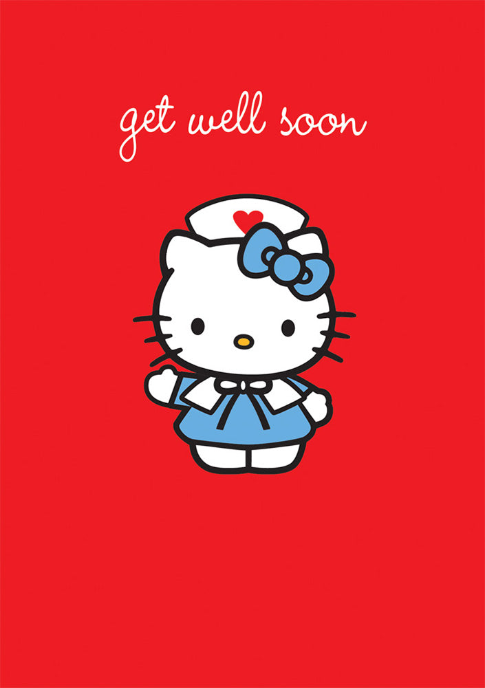 Hello Kitty Get Well Soon Greeting Card