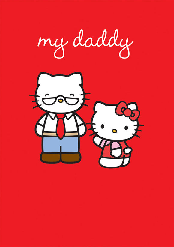 My Daddy Hello Kitty Birthday / Father's Day Card