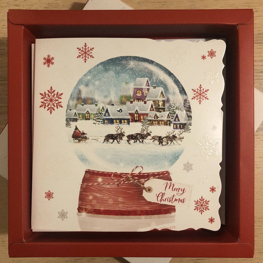 Snow Globe Merry Christmas Christmas Card Pack of 10