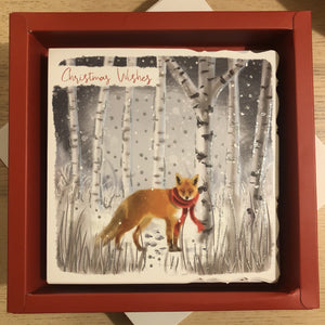 Fox Merry Christmas Christmas Card Pack of 10