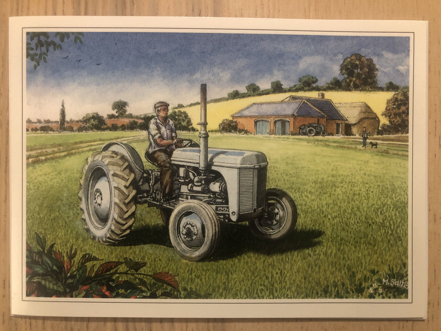 Green Tractor Greeting / Happy Birthday Card
