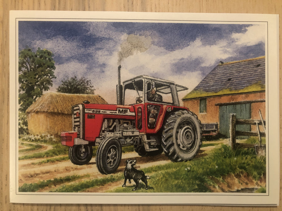 Red Tractor Greeting / Happy Birthday Card
