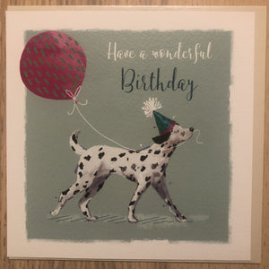 Dalmatian Dog Happy Birthday Greeting / Birthday Card