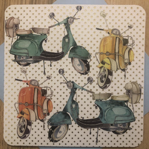 Lambretta Vespa Scooter Greeting / Happy Birthday Card