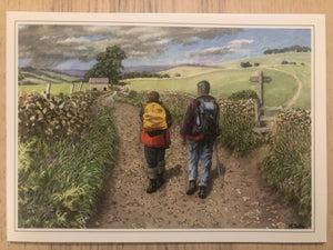 Walkers Ramblers Hiking / Happy Birthday / Greeting Card