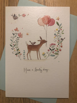 Deer / Have a lovely day / Birthday Card
