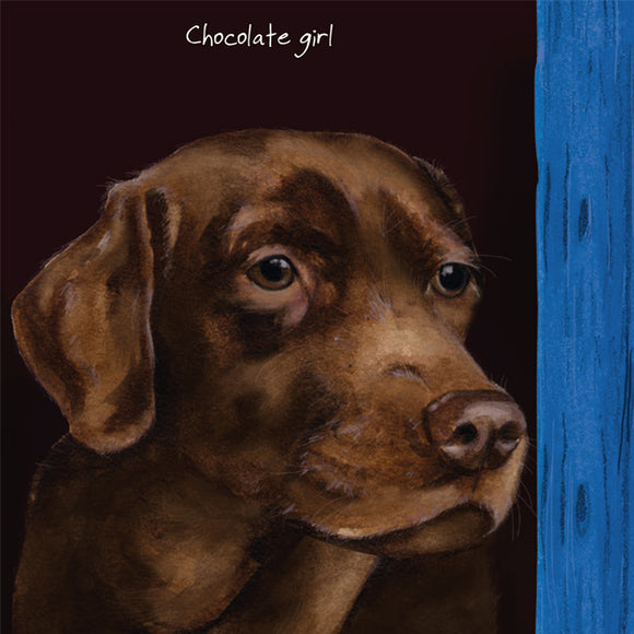 Chocolate Labrador Dog (Chocolate Girl) Greeting / Birthday Card