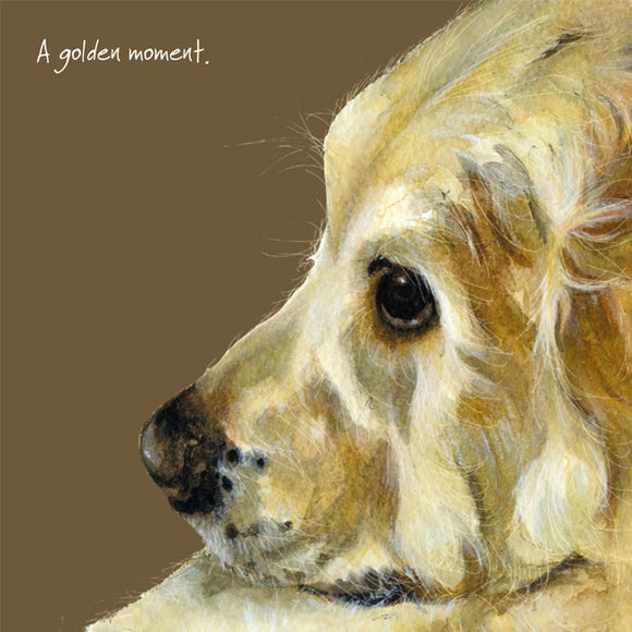 Golden Retriever (A Golden Moment) Greeting / Birthday Card