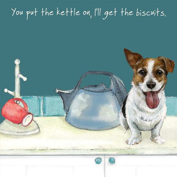 Jack Russell (Kettle On) Greeting / Birthday Card