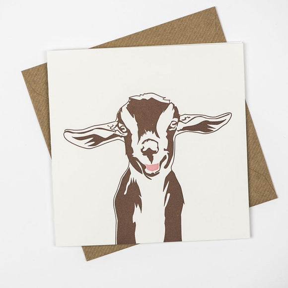 Goat Hand Letterpress Greeting / Birthday Card