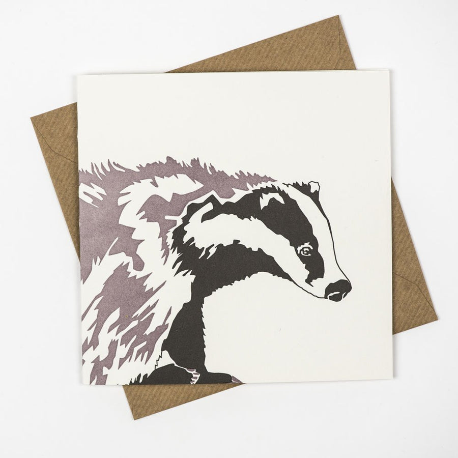 Badger Hand Letterpress Greeting / Birthday Card